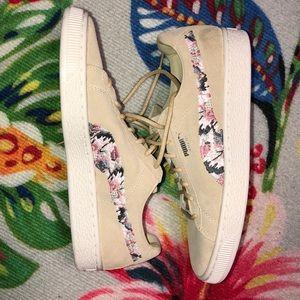 Embroidered  Suede Sunfade Puma Sneaker